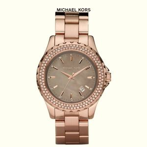 Authentic MICHAEL KORS Rose Gold Glitz Watch